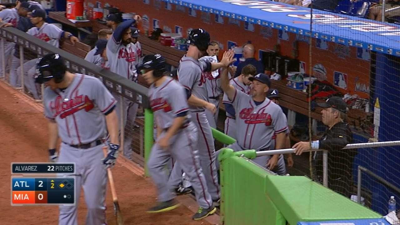 Braves' five-run 2nd inning