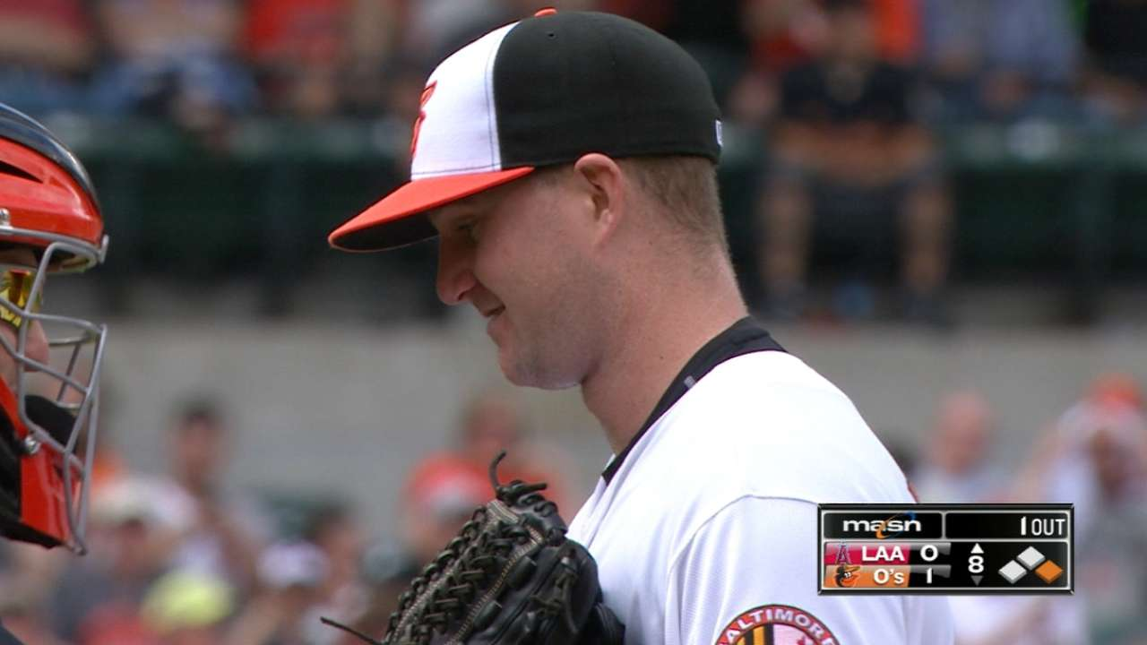 O's Wright outduels Richards in MLB debut