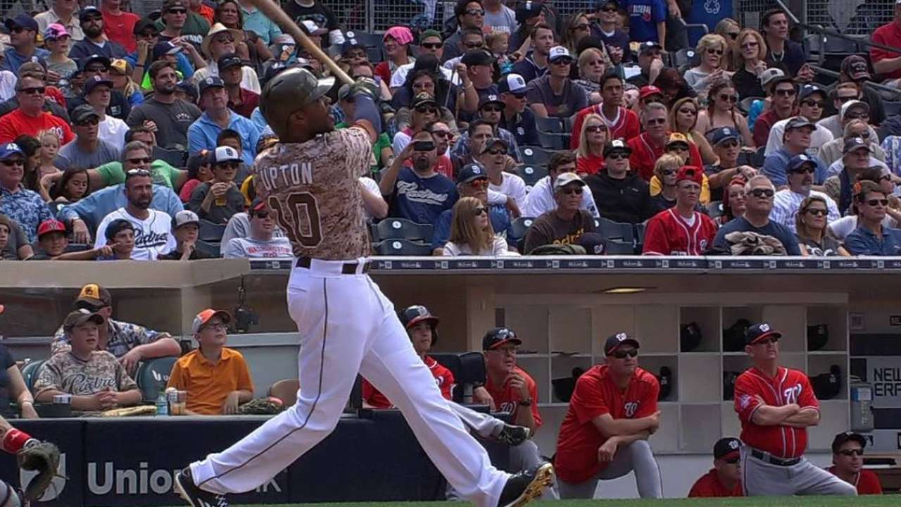 Upton launches solo homer