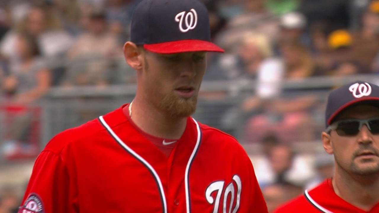 Strasburg throws 60 pitches in BP session