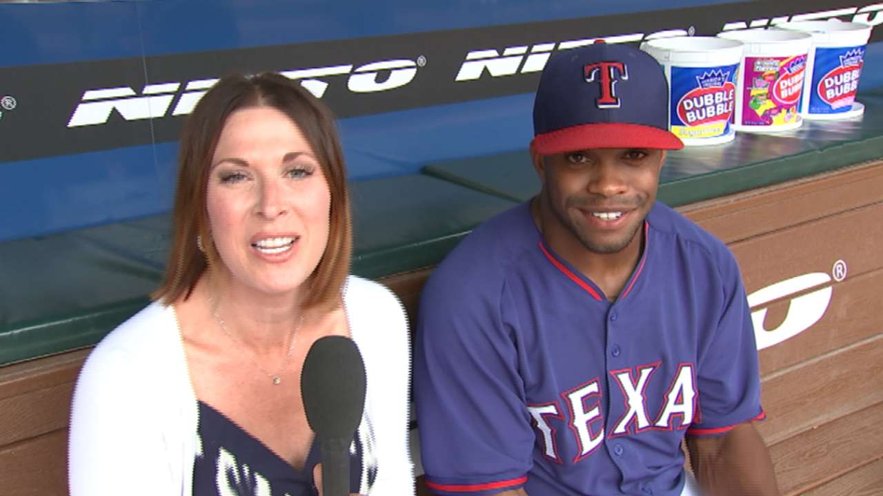DeShields all about staying in the moment