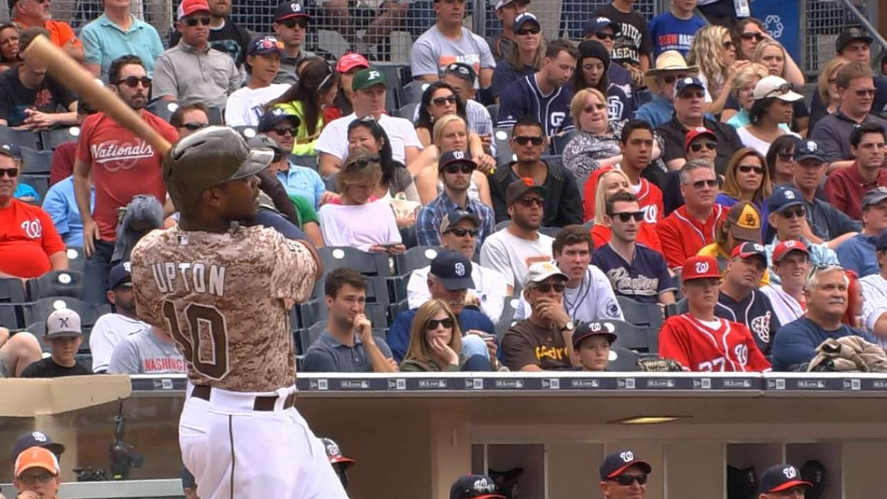 Upton continues to flash power at Petco