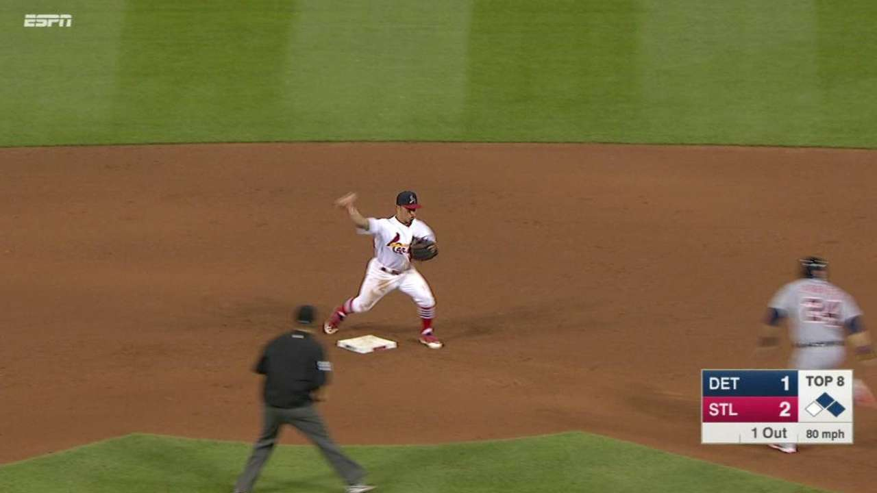 Maness induces big double play