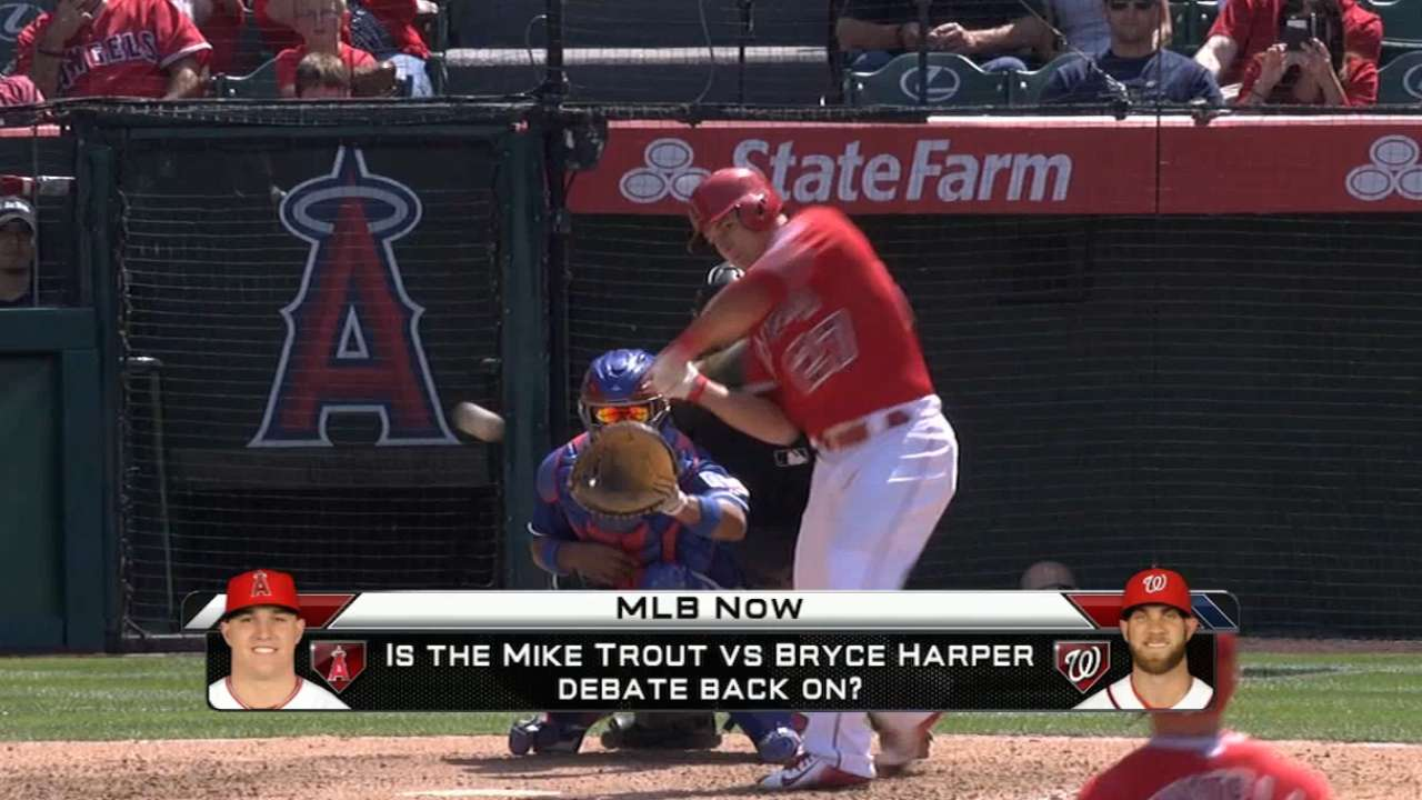 Trout or Harper on MLB Now