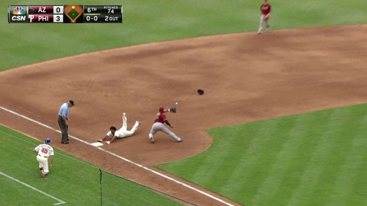 Phillies chip away at D-backs for fifth straight win