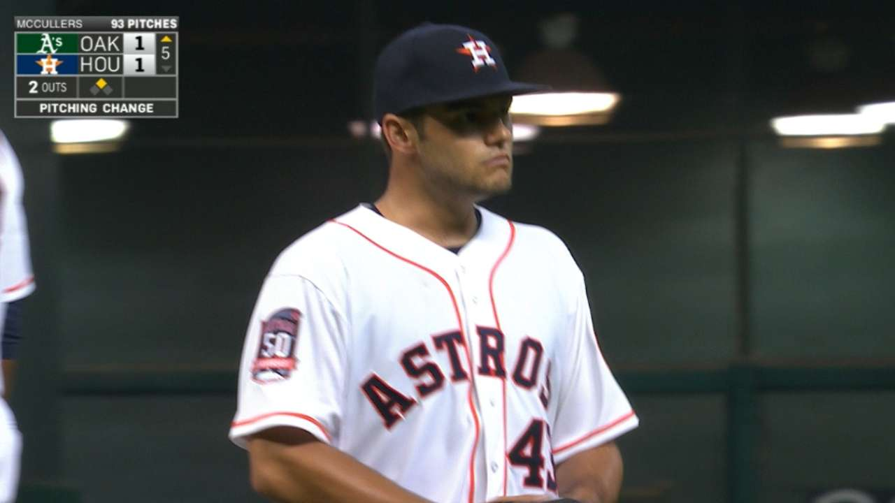 McCullers to get at least one more start
