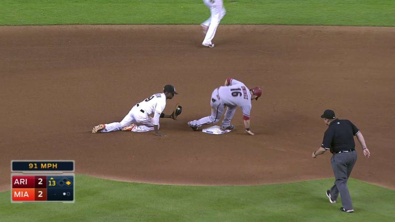 Owings' steal in the 13th
