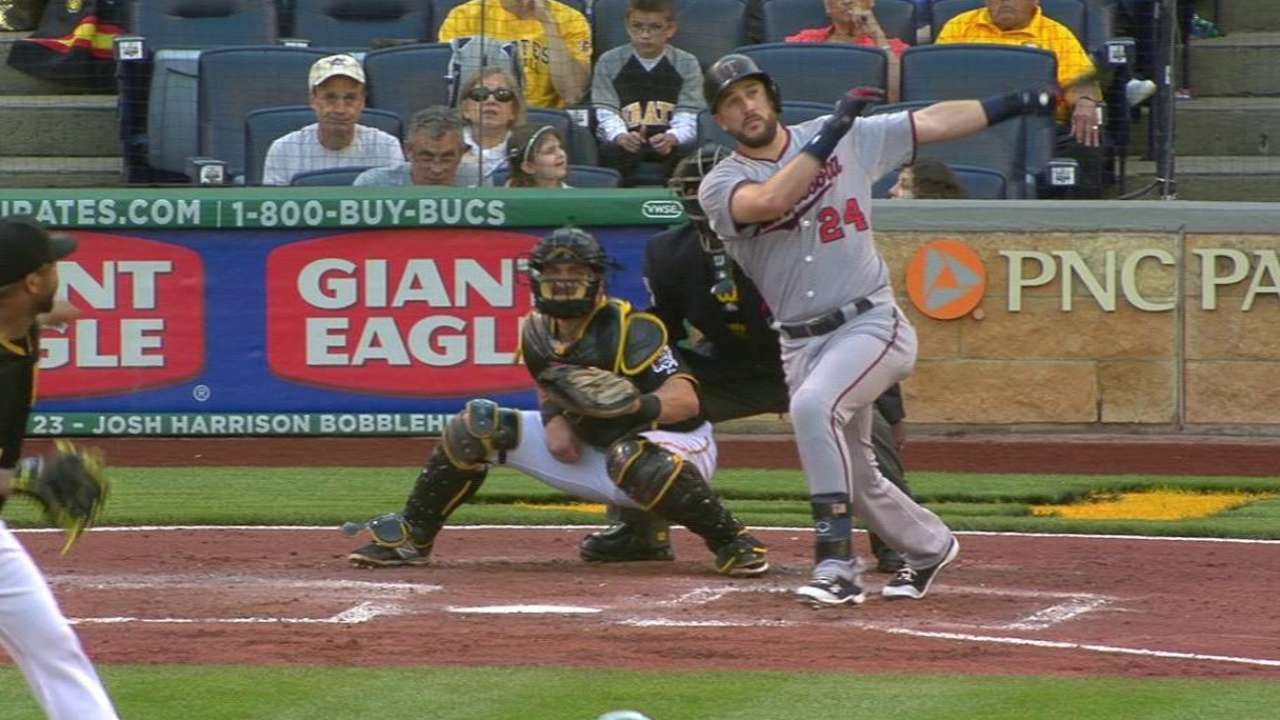 Plouffe's two-run homer