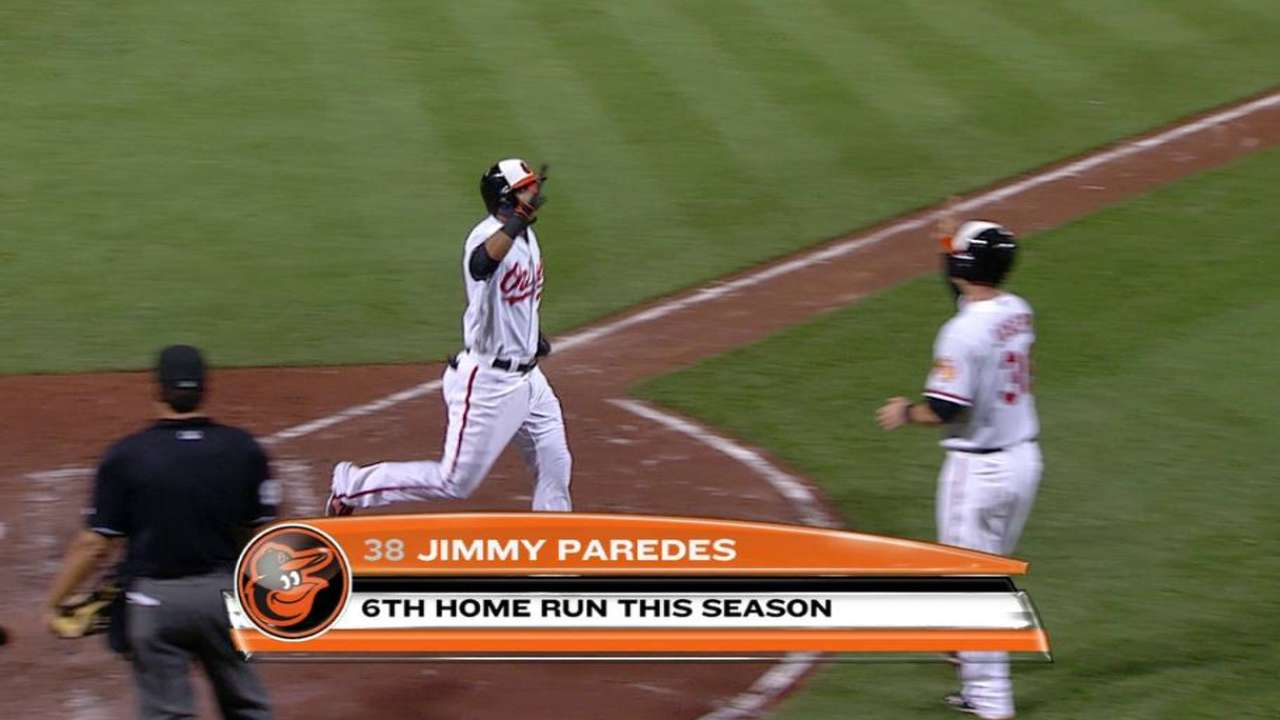 Paredes' two-run homer