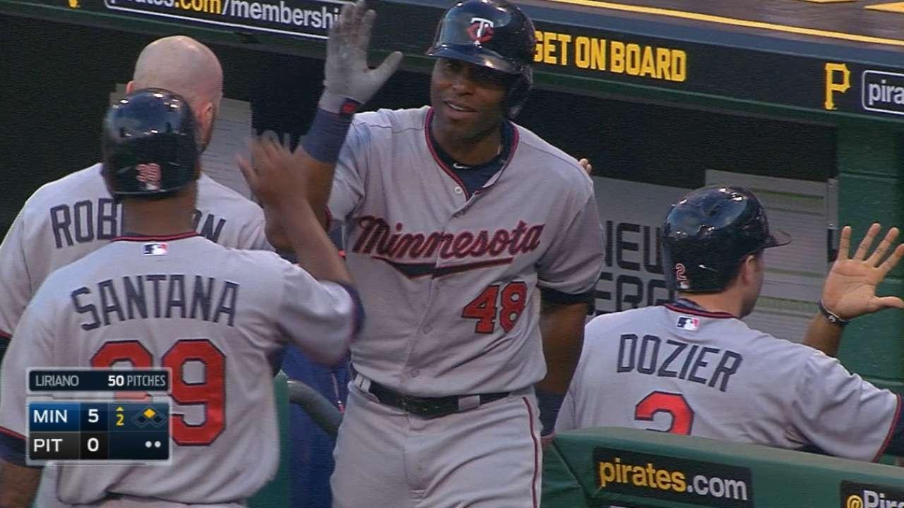 Twins' big second inning leads them past Bucs