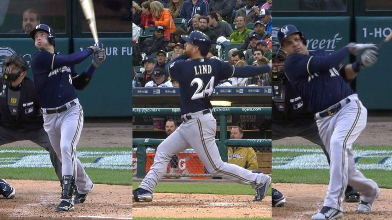 Brewers stun Tigers with 3-homer 3rd inning