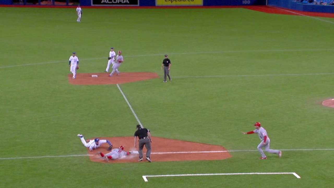 Aybar's slide at third