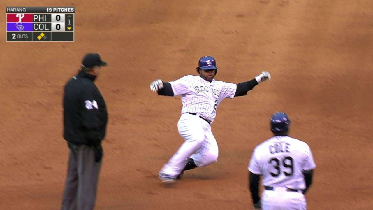 Rosario a changed hitter since return to Rockies