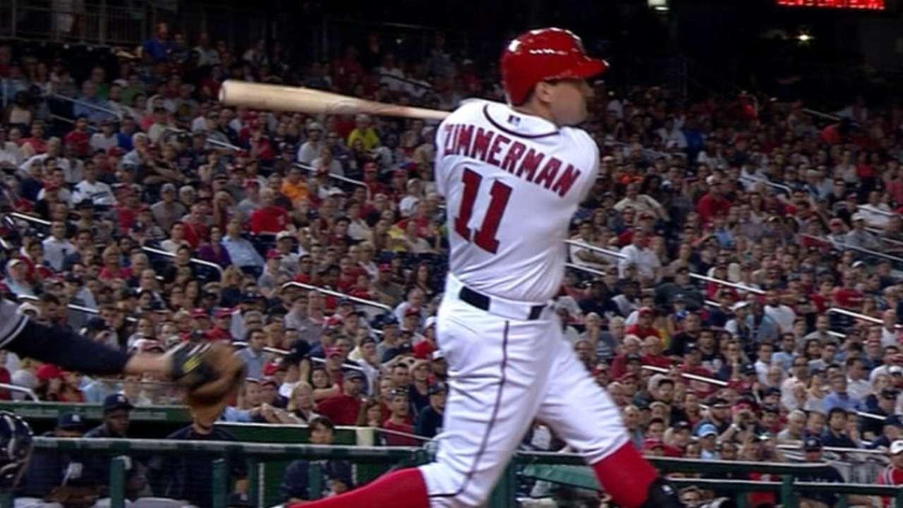 Zimmerman dejó tendidos a Yankees en la 10ma