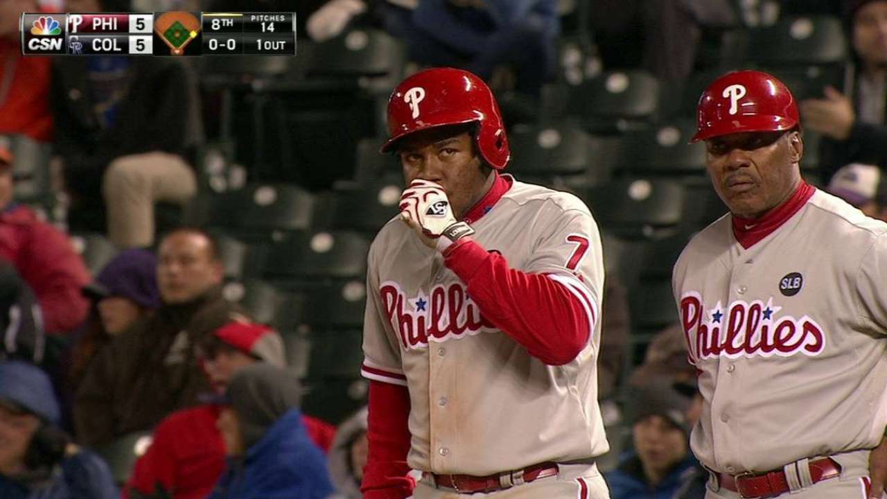 After error, Franco comes up big with the bat