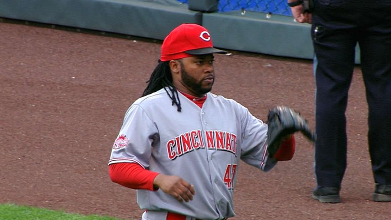 Cueto to miss start with elbow stiffness