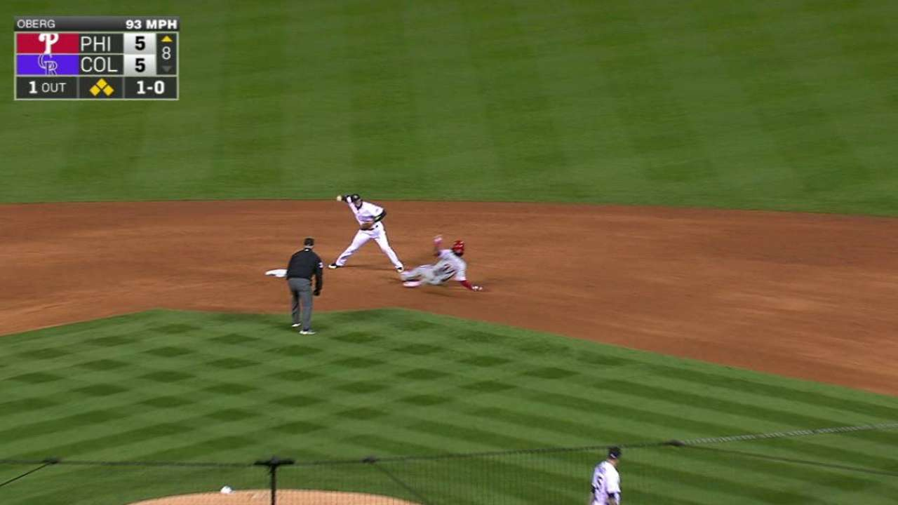 Oberg induces big double play