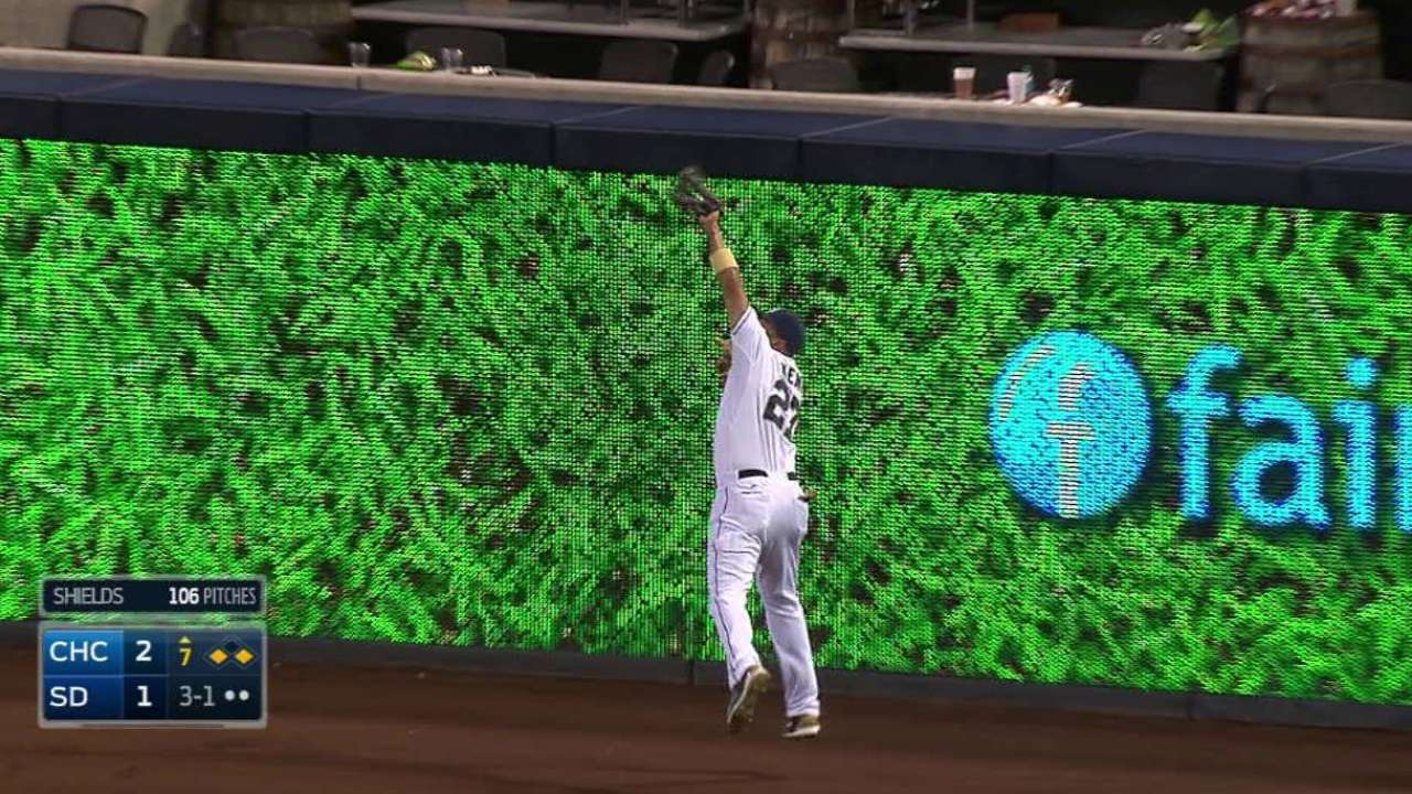 Kemp's catch at the track