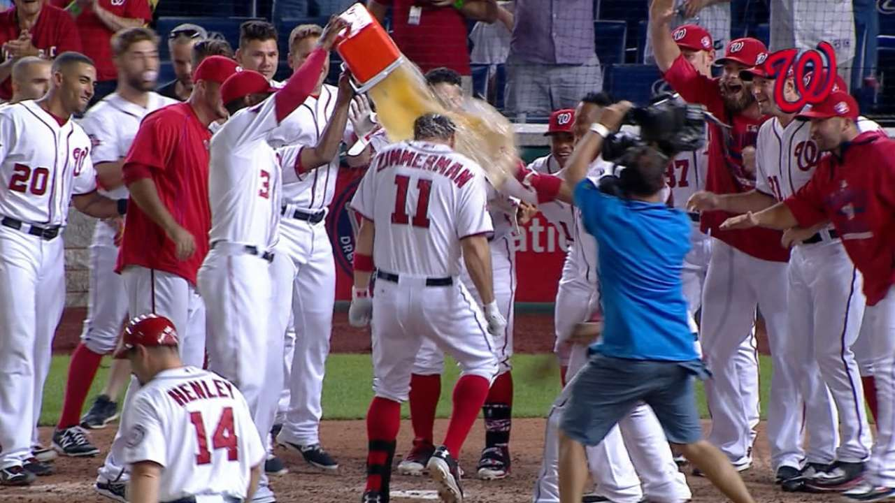 Nats win rally battle in 10th on Zimmerman's HR