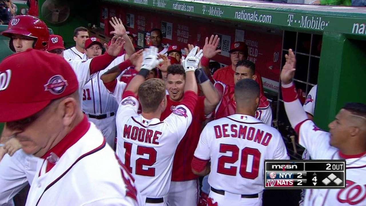 Moore's solo home run