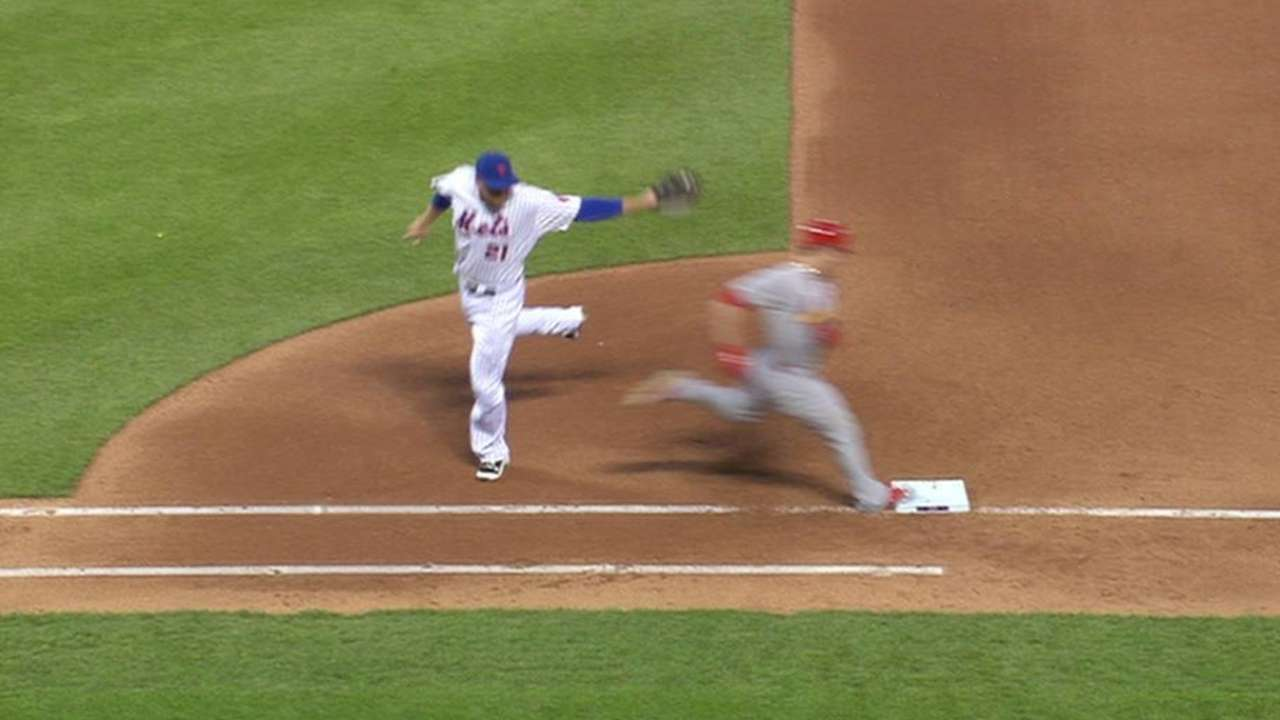 Grichuk is safe at first