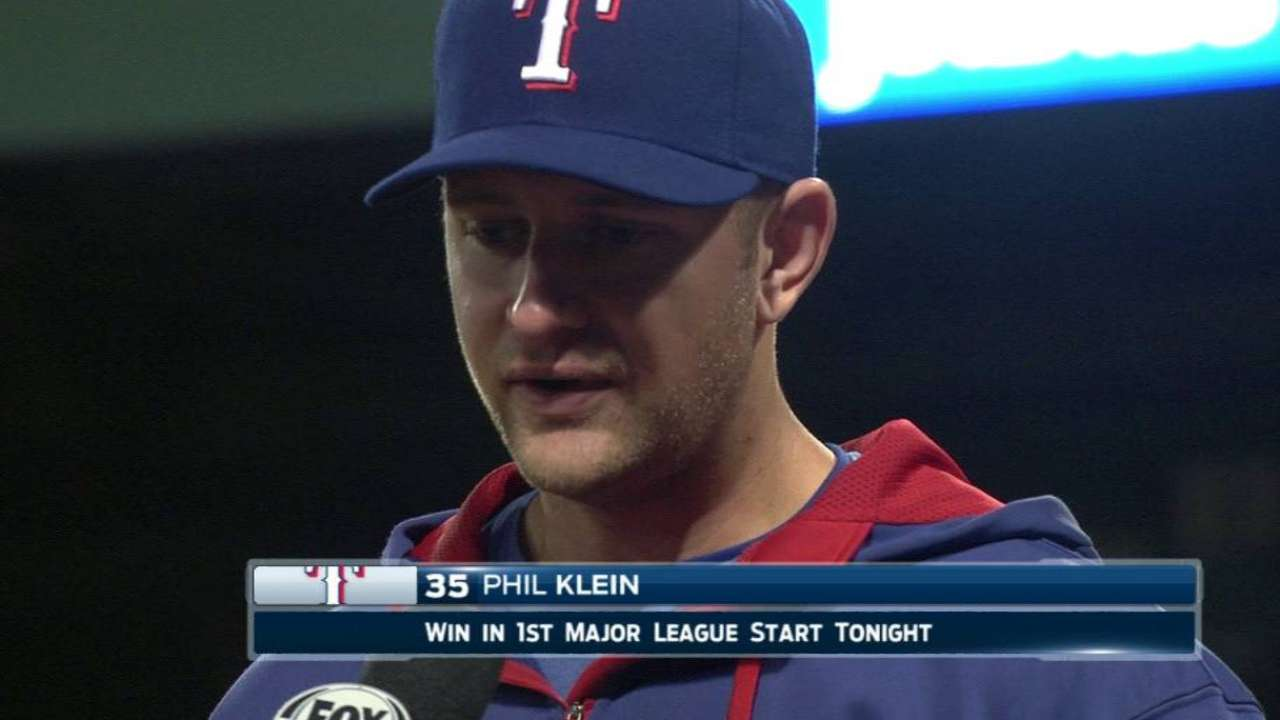 Klein on his outing, excitement