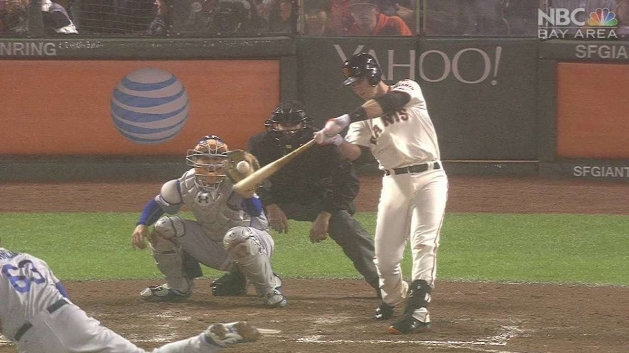 Posey's two-run homer