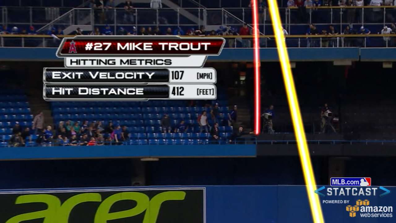 Trout triggers offense, Weaver outduels Hutchison