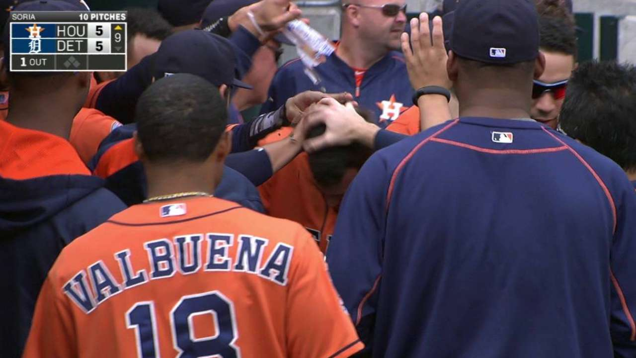 Tucker finds perfect time for first homer