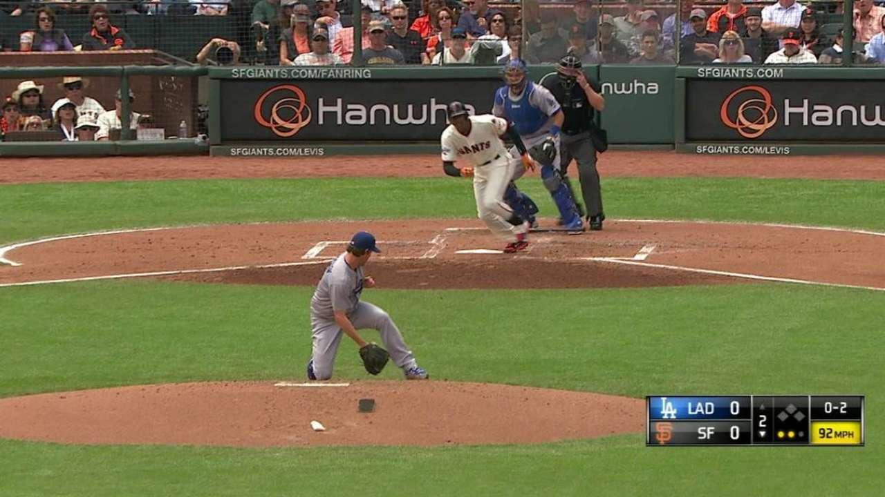 Dodgers son blanqueados otra vez por Gigantes
