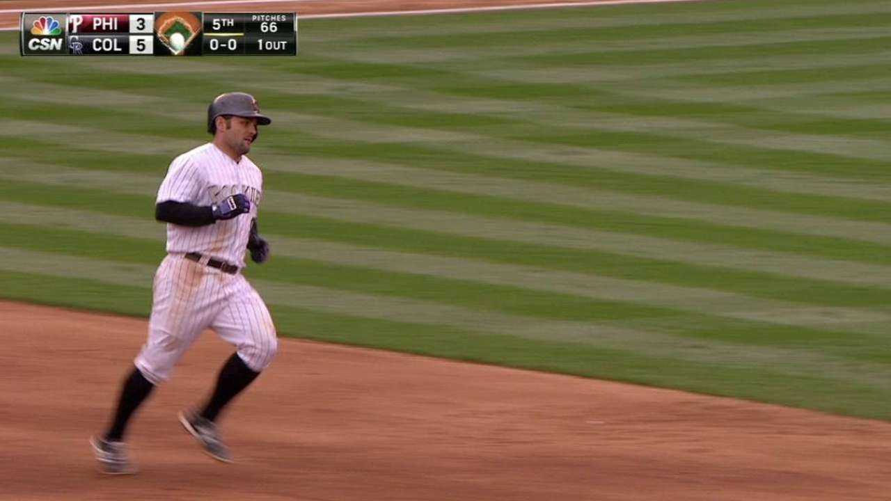 McKenry's HR leads Rockies' attack vs. Phillies