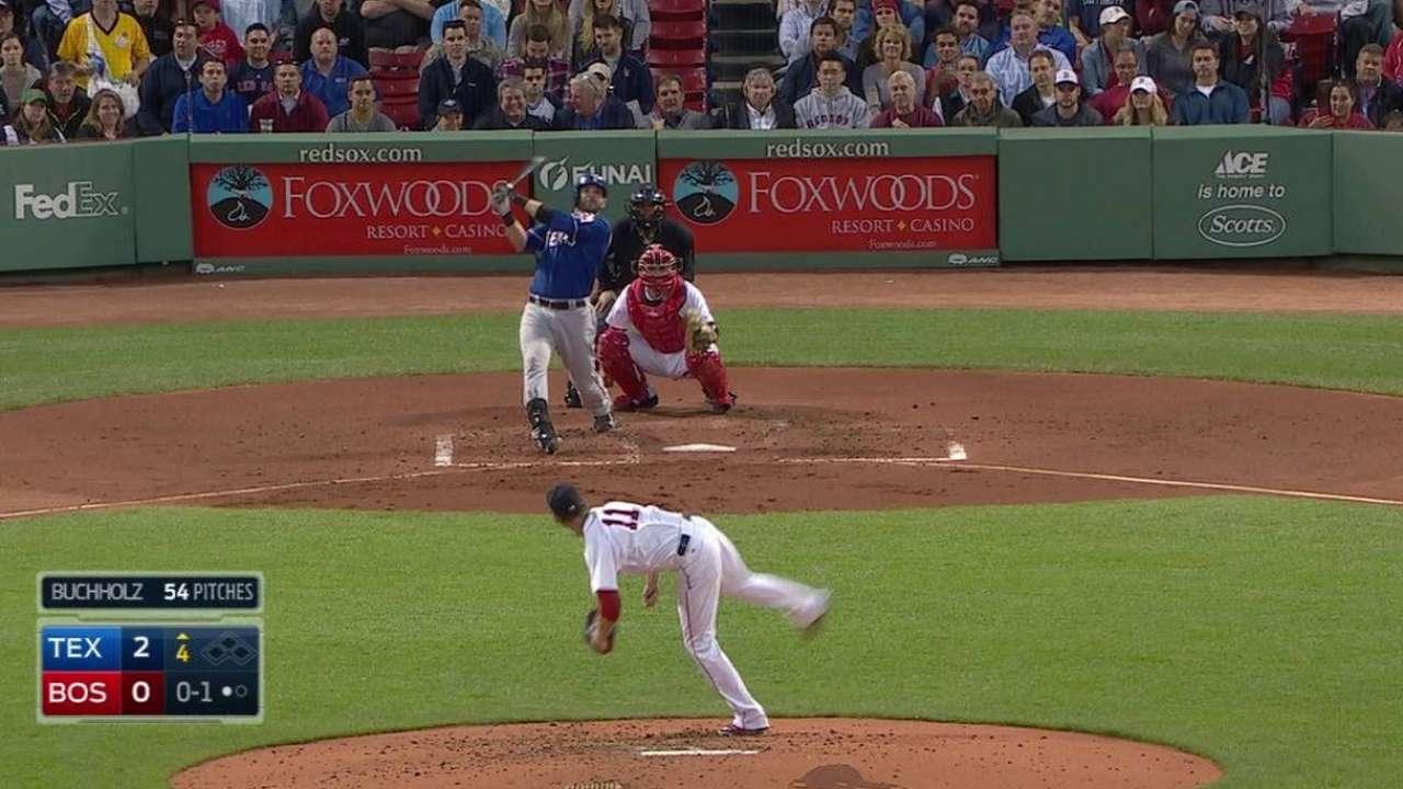 Moreland's bat more than enough vs. Red Sox