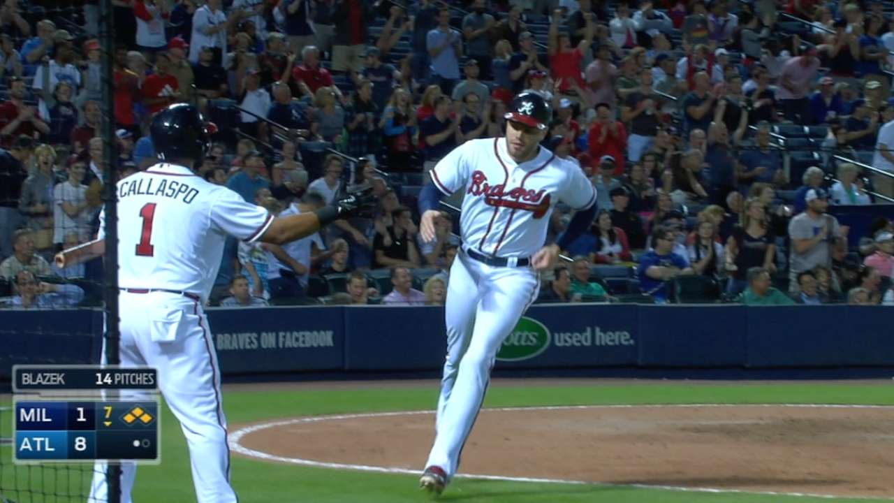 Braves roll past Brewers behind big 7th inning