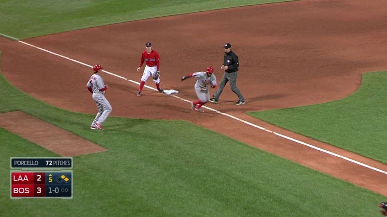 Trout's RBI single