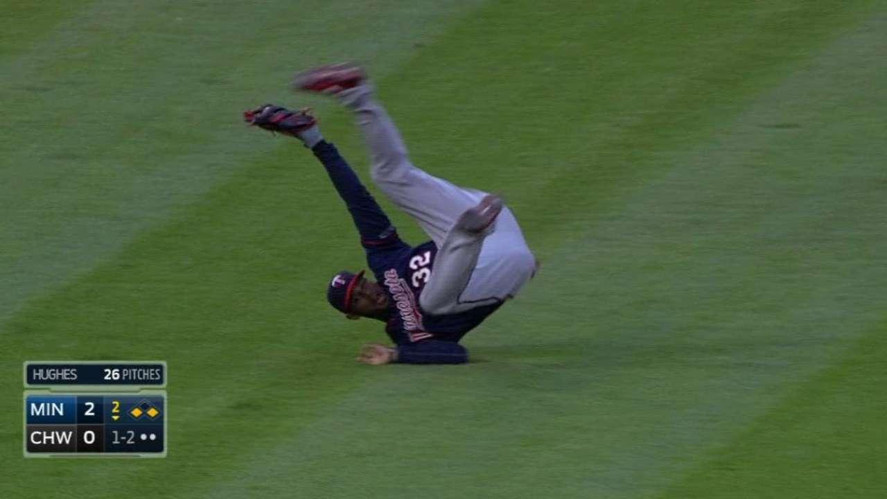 Hicks' run-saving catch