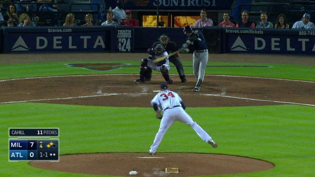 Braun's two-run double