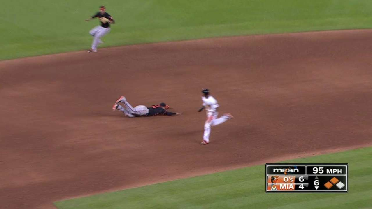 Machado's diving stop ends frame