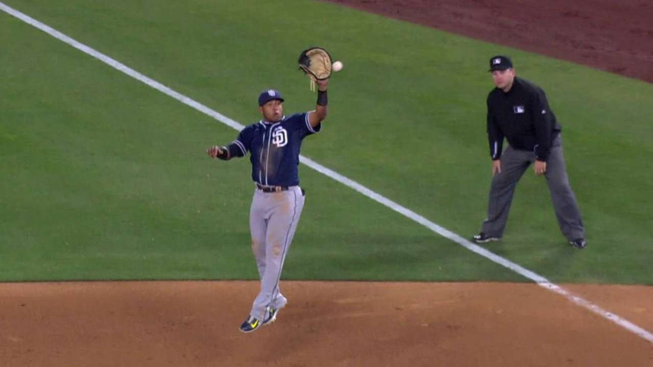 Solarte's leaping catch