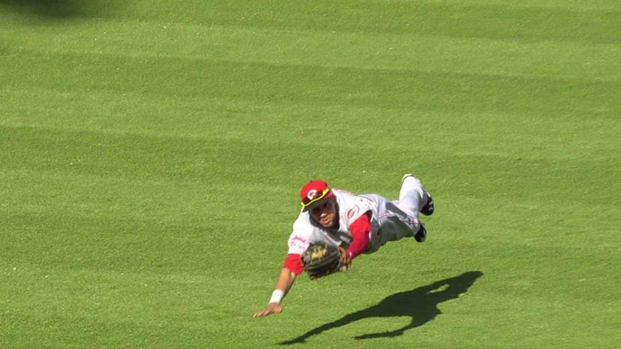 Hamilton's great diving catch
