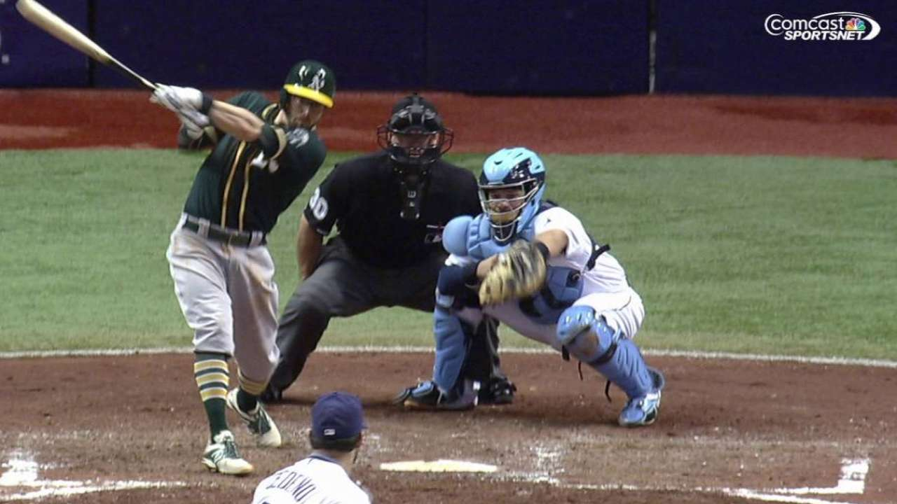 Sogard breaks out to spark A's scoring