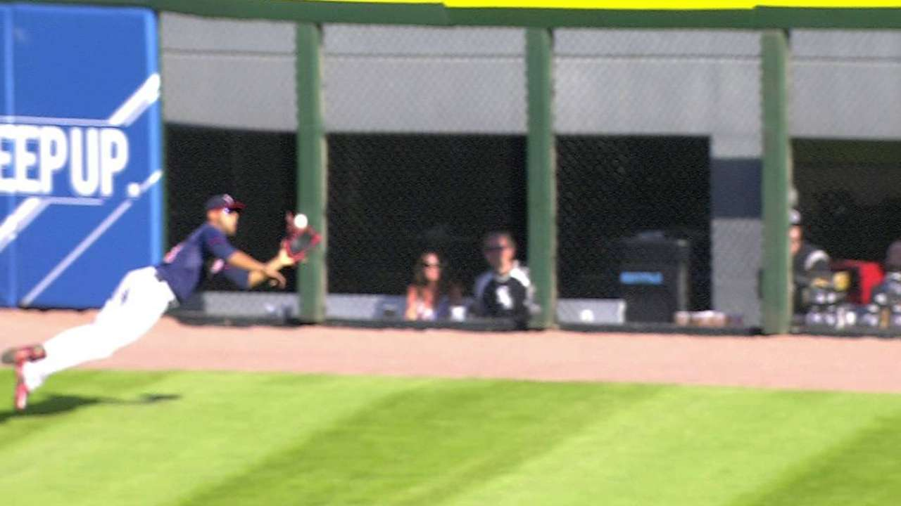 Hicks' diving grab on track