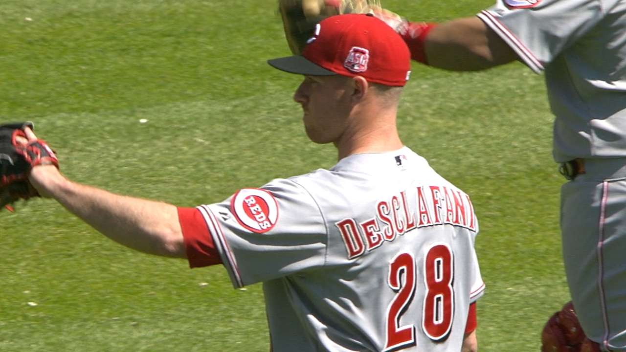 Reds' pitching staff gets boost from DeSclafani