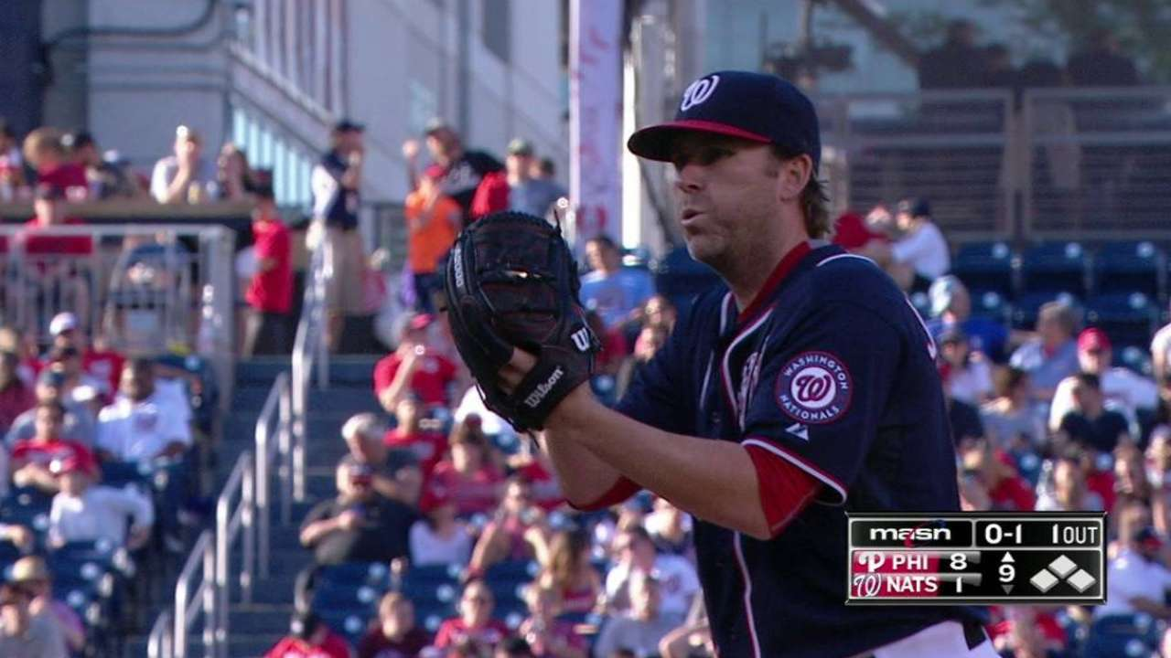 Janssen throws perfect frame in Nats debut