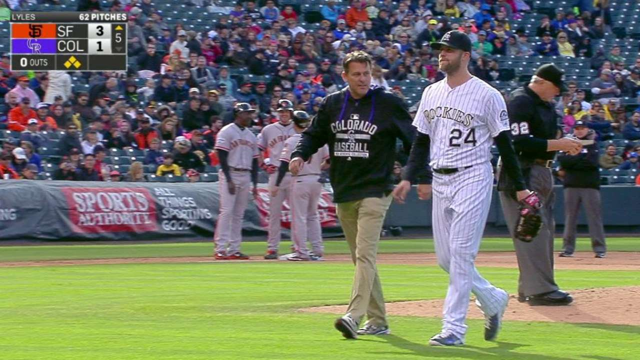 Lyles could miss next start with sprained toe