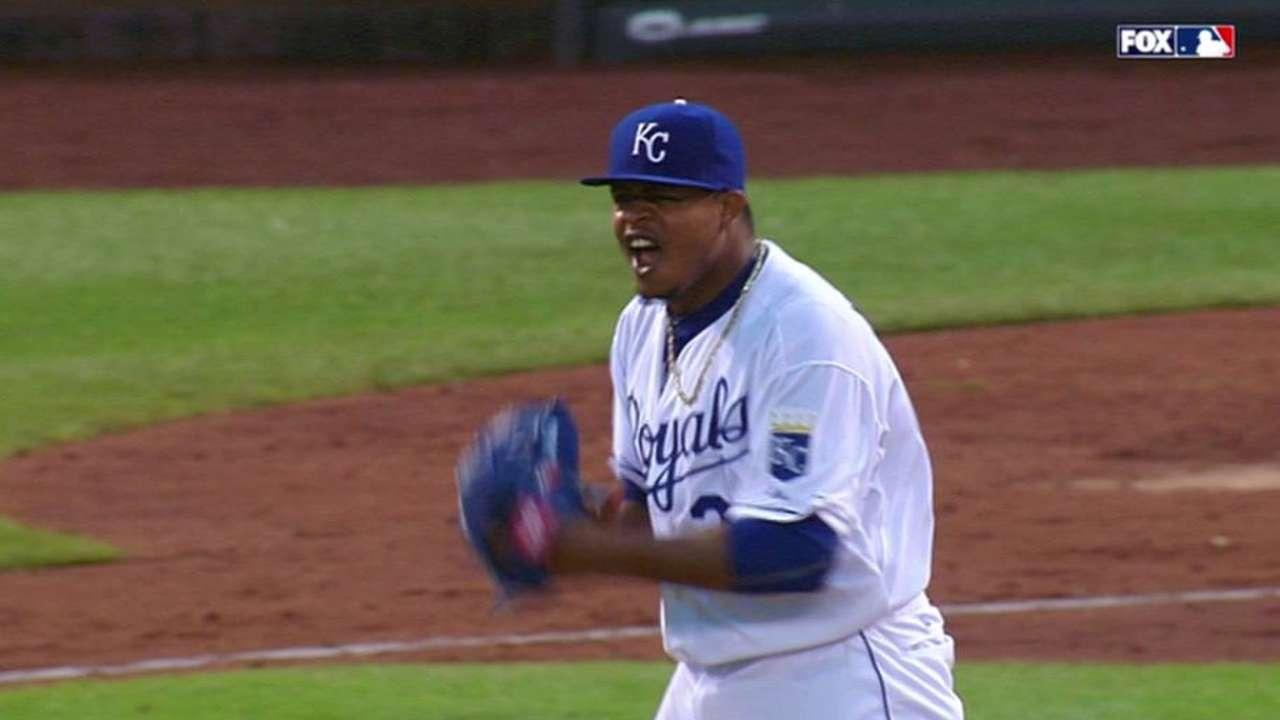 Volquez escapes bases-loaded jam