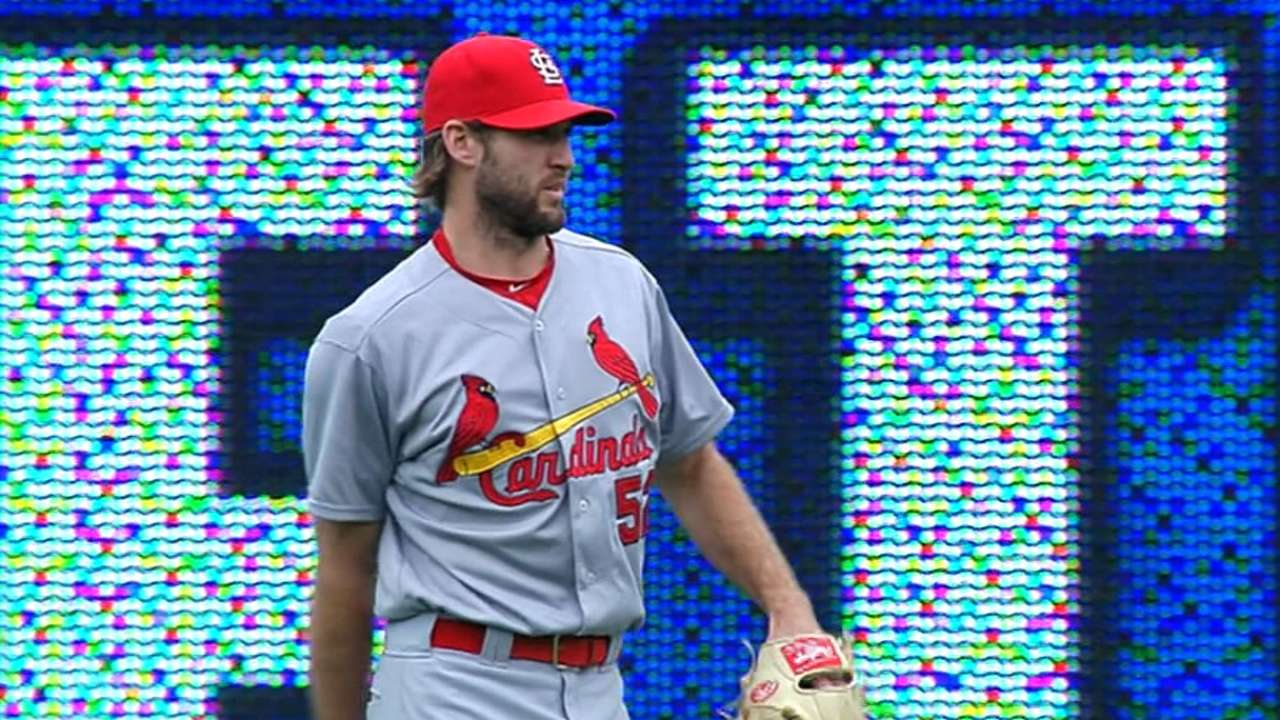 Wacha improves to 7-0 with gem for Cards