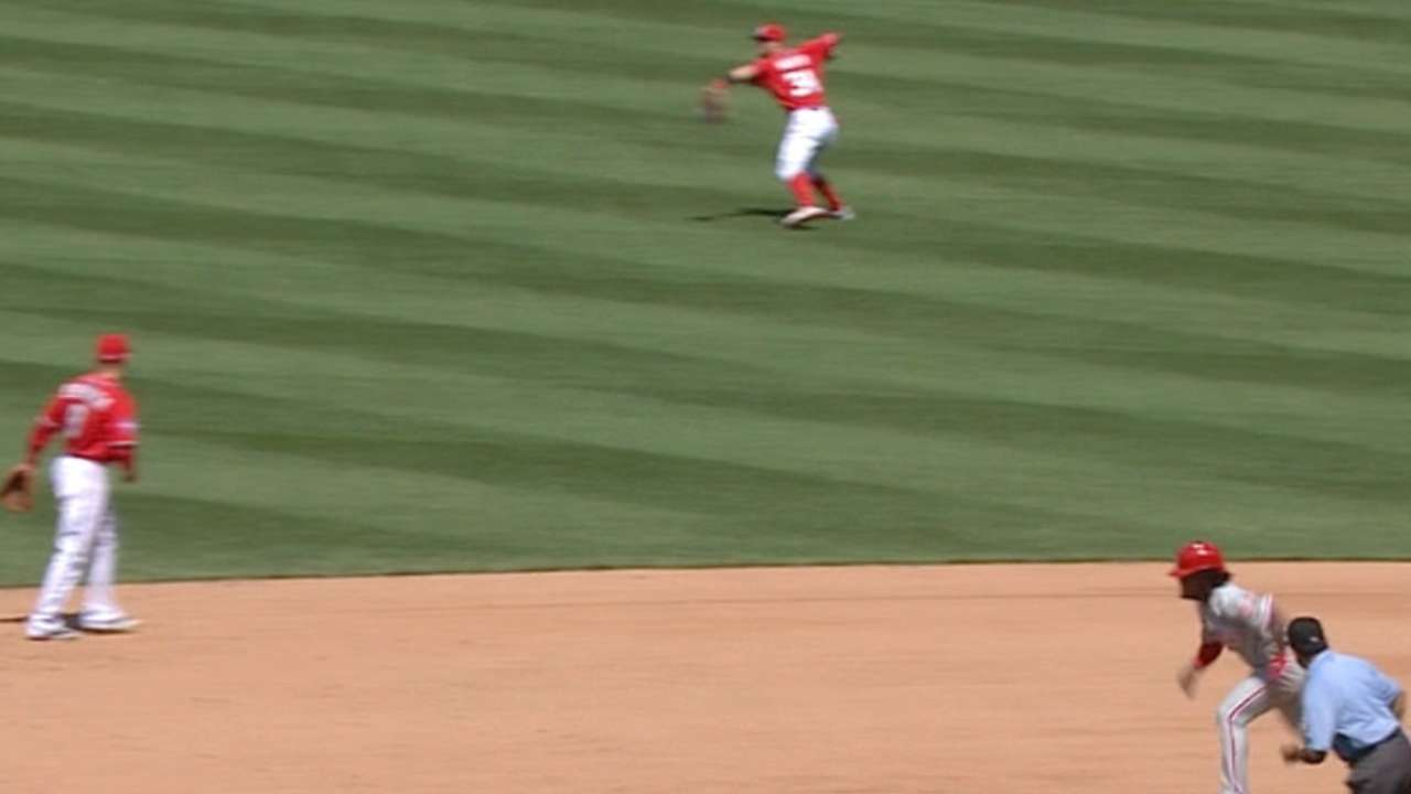 Harper's strong throw