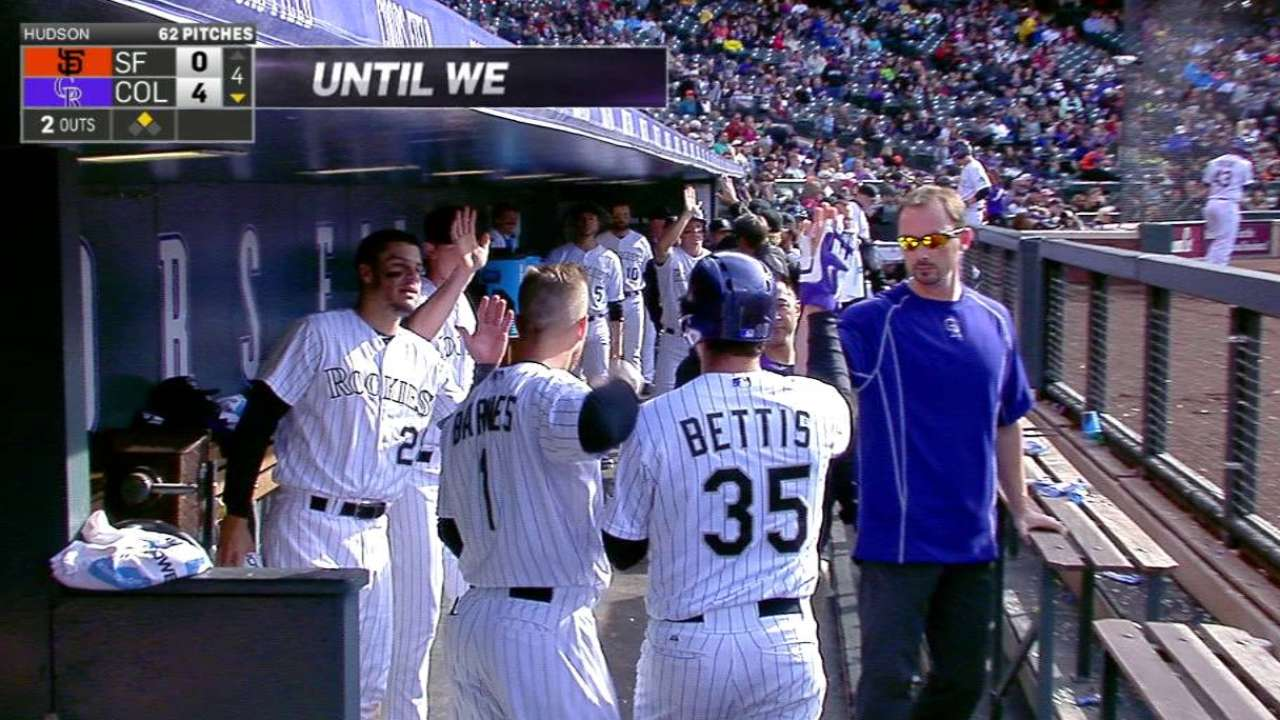 Bettis' RBI groundout