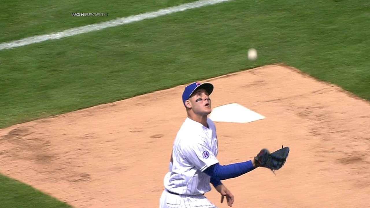 Rizzo's basket catch