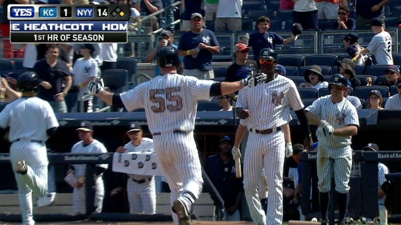 Heathcott's first MLB home run